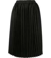 comme des garçons oxford pleated skirt - black