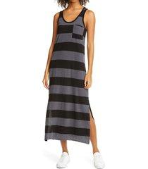 women's atm anthony thomal mellilo stripe tank dress, size x-small - grey