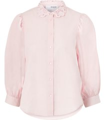 blus slfromance 3/4 puff sleeve shirt b
