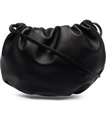 bottega veneta the bulb ruched shoulder bag - black