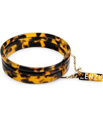 zenzii gold-tone/acetate 3-pc. set bangle bracelets
