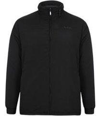 jaqueta parka microfibra com manta e capuz embutido masculino