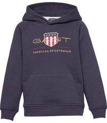 archive shield hoodie hoodie trui blauw gant