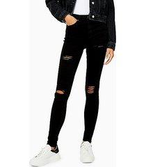 black super rip jamie skinny jeans - black
