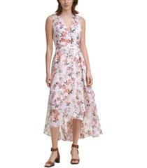 calvin klein sleeveless v-neck maxi dress
