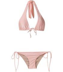 adriana degreas country club bikini set - pink