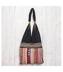 cotton shoulder bag, 'thai wanderer' (thailand)