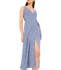 french connection sweetheart verona floral-print faux-wrap dress