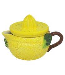 espremedor bon gourmet de cerâmica lemons 15x11x11cm amarelo