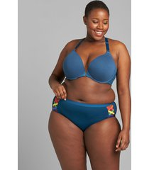 lane bryant women's level 1 smoother hipster panty - strappy sides 12 poseidon blue