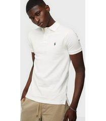 polo ralph lauren slim fit mesh polo shirt piké white