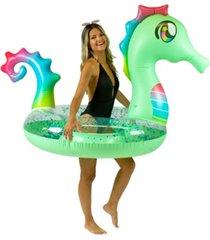 "poolcandy glitter seahorse 48"" jumbo swimming pool tube"
