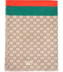 gucci gg original and web tape scarf