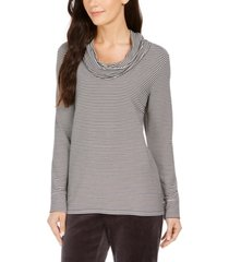 charter club striped cowl-neck top, created for macy's