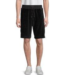 roberto cavalli sport men's logo-panel drawstring shorts - black - size xl