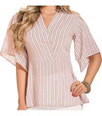 blusa campbell rosado  para mujer croydon