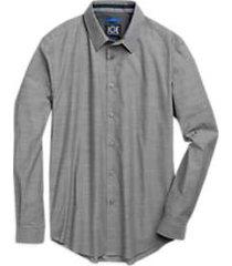 joe joseph abboud repreve® gray dot sport shirt
