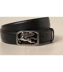 etro belt etro leather belt with pegaso buckle