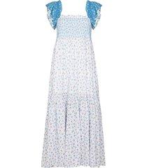 loveshackfancy constantine empire-silhouette dress - blue