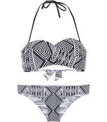 bikini rip curl black sands bandeau set