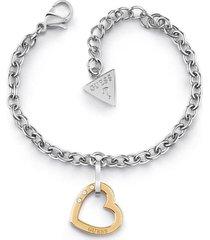 bransoletka z charmsem w kształcie serca model hearted chain