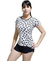 pijama conjunto camiseta caveira e short feminino - feminino