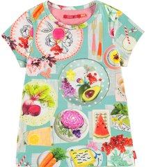 oilily ti t-shirt picknick- turquoise