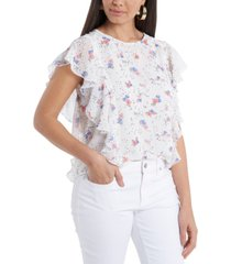 1.state floral-print ruffled top