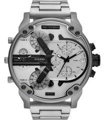 diesel men's chronograph mr. daddy 2.0 stainless steel bracelet watch 57mm