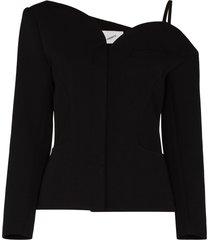 coperni asymmetric one-shoulder blazer - black
