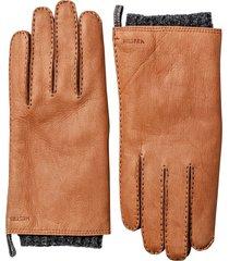 men's hestra 'tony' deerksin leather gloves, size medium - brown