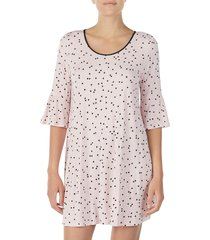 women's kate spade new york bell cuff sleep shirt, size large - pink