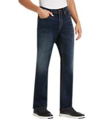 silver jeans co. grayson blue dark wash classic fit knit jeans