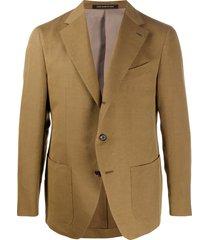 caruso textured multi-pocket blazer jacket - neutrals