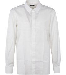 balmain all-over logo shirt