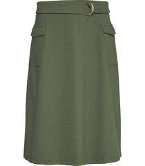 sc-dena solid knälång kjol grön soyaconcept