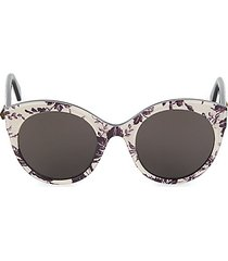 52mm floral cat eye sunglasses