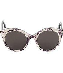 52mm floral cat eye sunglasses