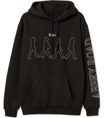 beatles abbey road men's graphic hoodie