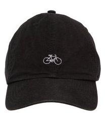 boné masculino bordado bike - preto
