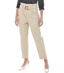 pantalon para mujer en bengalina cafe color-cafe-talla-14