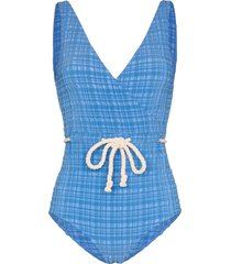 lisa marie fernandez yasmin drawstring swimsuit - blue