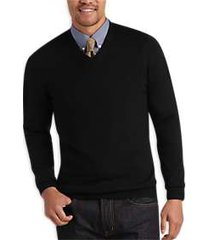joseph abboud black v-neck merino wool sweater