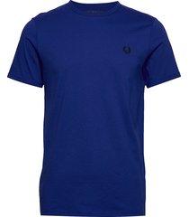 ringer t-shirt t-shirts short-sleeved blå fred perry
