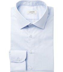camicia da uomo su misura, canclini, eco azzurra cotone organico, quattro stagioni | lanieri