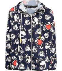 bear in love windbreaker jacket, navy