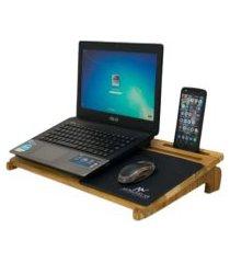 mesa com suporte para notebook - madeira teca