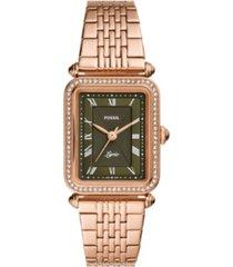 fossil women's lyric rose gold-tone bracelet watch 28mm