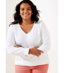 loft loft plus curved hem sweatshirt