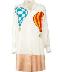 lanvin main component long buttoned dress